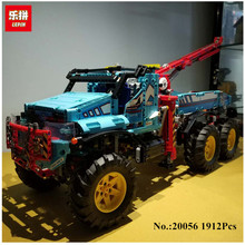 IN STOCK Lepin 20056 1912Pcs  The Ultimate All Terrain 6X6 Remote Control Truck Set Building Blocks Bricks Toys Model 42070