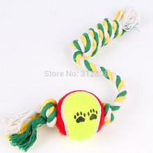 Ball With Rope Dog Training Chewing Cleaning Toys For Cats W122 Bulldog Poodle Small Animals  Puppy Pet Products