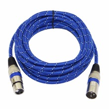 Nylon Braided XLR Cable Male to Female M/F 3Pin jack Extension Cable For Microphone Mixer 1m 1.8m 3m 5m 10m 15m 20m(China)