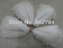 EMS Free Shipping 400pcs/lot white ostrich drab feather ostrich plumes 30-35CM 12-14 inches for wedding decoration