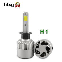 2Pcs S2 H1 LED Bulb Super Bright Auto Car Headlight 2X 36W 8000LM 6500K 12V 24V Single Beam All In One Led Chip Automobiles Lamp(China)