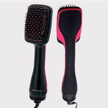AT FASHION electric hair comb negative ion hair straightener Brush 2 In 1 hair dryer and styler Professional Straightening Irons(China)