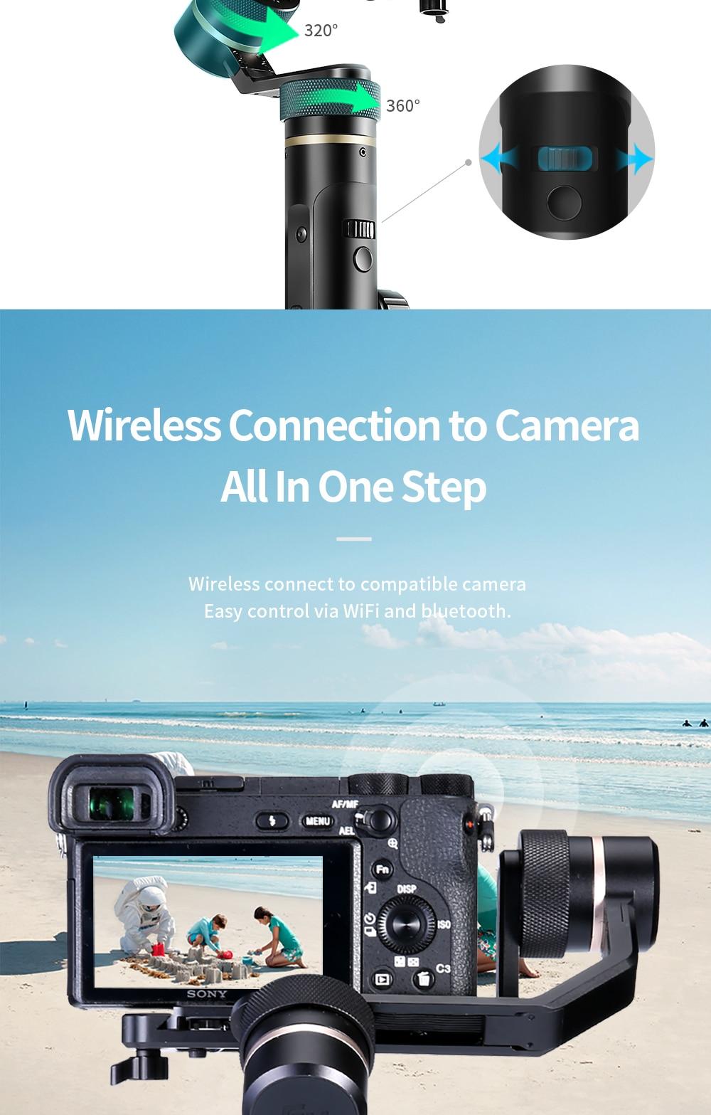 FeiyuTech G6 Plus 3-Axis Handheld Gimbal Stabilizer for Mirrorless Camera Pocket Camera GoPro Smartphone Payload 800g Feiyu G6P 8