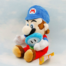 5pcs/lot Super Mario Plush 17cm Blue Hat Mario Holding Sun Flower Plush Doll Toy Soft Stuffed Toys Mario Pelucia Gift for Kids(China)