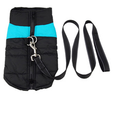 Easy-Fit Comfort Small large Dog Harness Coat with 120cm dog leash Puppy dog Jack Coat Waterproof Dog outfit Ski Pet Overalls(China)