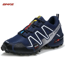 2017 ONKE Newest Man Sports Running Shoes Breathable Damping Sneaker 3 Colors Size From US 7-10 Big Size Track And Field Sneaker