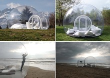 Hot transparent inflatable lawn bubble tent, bubble tree inflatable camping tent with corridor, air pump free