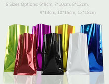 100pcs/lot- Color Aluminized Flat Pockets Vacuum Heat Sealing Bags Scented Tea Powder Sample Food Packaging Gift Bags