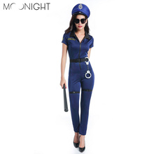 MOONIGHT New Ladies Police Fancy Halloween Costume Sexy Cop Outfit Woman Cosplay Police for Women(China)
