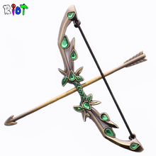 Dota2 Weta King Butterfly Black Bow Weapon Model Torre Eiffel Online Game Defense Of The Ancients  Wholesale Metal Keychains Men