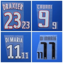 Daniel Alves T.SILVA VERRATTI DI MARIA LUCAS DRAXLER CAVANI football number name font print, Hot stamping Soccer patches badges