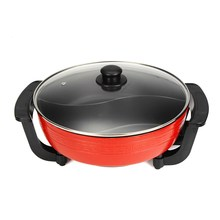 6L Non-Stick Electric Shabu Shabu Hot Pot Table Top Soup Pot Cooking Tools Machine Home Kitchen Smokeless Cookware 1800W 220V(China)