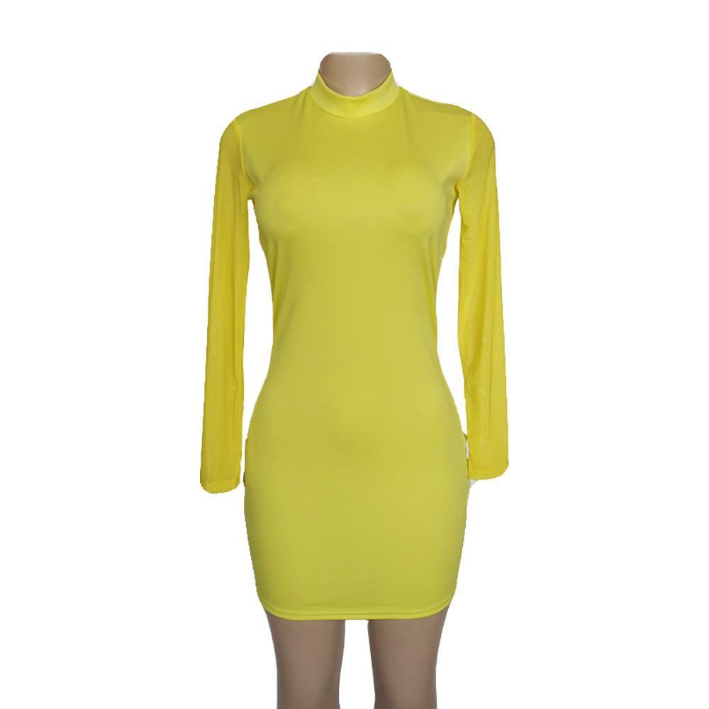 Swaggy HTB1qTiectnJ8KJjSszdq6yxuFXam Langärmliges Slim Kleid
