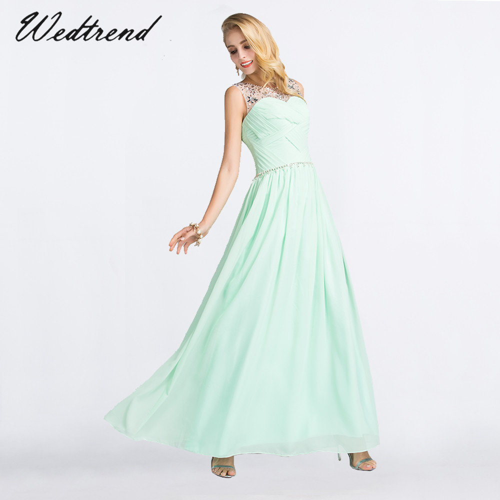 Wedtrend Light Green Prom Dress 2019 Free Shipping Elegant Long Lady Formal Evening Dress Gown