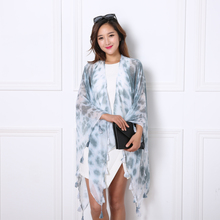 The best price 2016 woman scarf shawls hand-painted color European fashion models the latest design Beach(China)