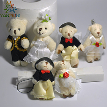 1pair 2pcs 6cm Hot Selling Item Couple Bears Wedding Bears Wedding Gifts Soft Doll kawaii Toy Brinquedos