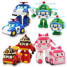 4pcs/Set3-6 years old children's educational toys South Korea police fire deformation Perley super robot suit vari free shipping(China)