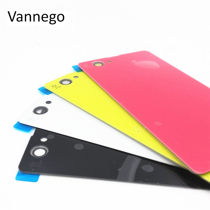 Vannego Back Glass battery Cover Sony Xperia Z1 Compact z1 Mini D5503 M51W Battery Back Door Cover Case housing NFC