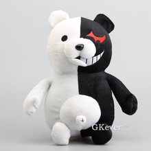 High Quality Anime Big Size 35 cm Dangan Ronpa Monokuma Doll Plush Toys Black White Bear Stuffed Dolls Children Present(China)