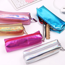 1PC Dream Magic Cool Pencil Case Super Shiny PU Laser Pencils Bags High Quality Stationery Pouch Office School Supplies(China)