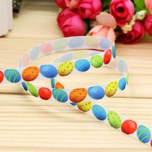 3/8'' Free shipping easter egg printed grosgrain ribbon headwear hair bow diy party decoration wholesale OEM 9mm B1284