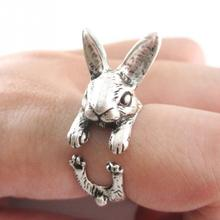 NEW ARRIVAL Vintage Antique Bronze Tiny Bunny Ring Rabbit Openings Ring for Women Girls Fashion Jewelry