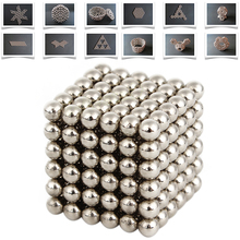 Hot 216Pcs 5mm Neodymium Magnetic Balls Spheres Beads Magic Cube Magnets Puzzle Kids Birthday Party Present Gifts Children Game