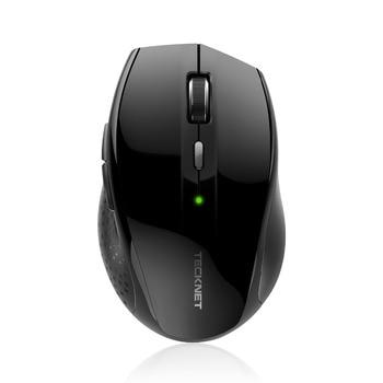 Tecknet ألفا مريح 2.4 جرام اللاسلكية البصرية الفأر مع نانو استقبال usb لأجهزة الكمبيوتر المحمول الكمبيوتر 6 أزرار