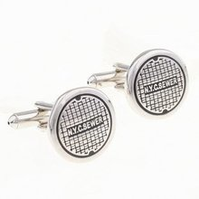 Free shipping new arrival stainless steel cufflink factory supply mix cufflinks wholesale manhole cover(China)