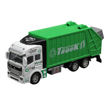 New  Children Model toys 1:32 Racing Bicycle Shop Truck Toy Car Carrier Vehicle Garbage Truck Garbage Truck Educational toys