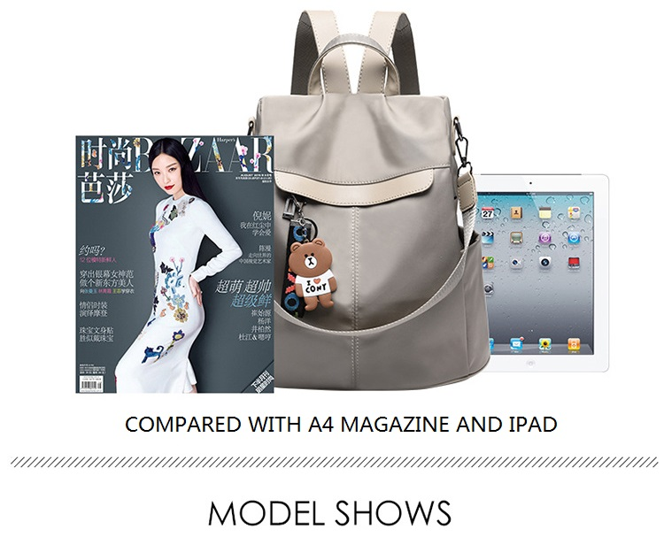 Large Capacity Backpack Women Preppy School Bags for Teenagers Female Oxford Travel Bags Girls Bear Pendant Backpack Mochilas 15 Online shopping Bangladesh