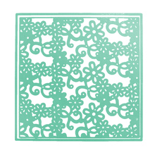 Embossing Mold Flower Hollow Square Metal Cutting Dies Stencil for DIY Scrapbooking Album Cards Decoration Paper Card Cutter