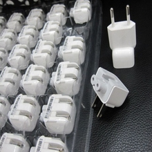 200PCS Wall AC Detachable Electrical US EU Plug Duck Head for Apple 10W 12W iPad iPhone USB Charger MacBook Power Adapter