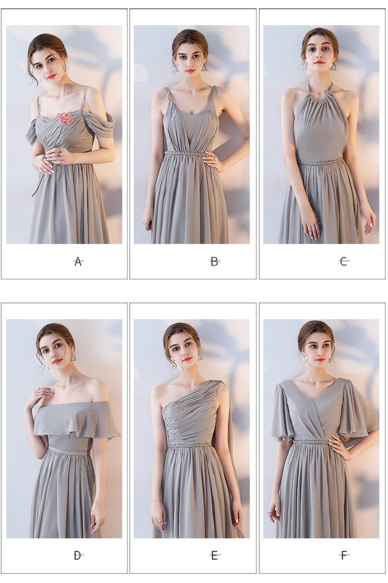 SOCCI Weekend Long Bridesmaid Dresses 2017 Sliver Sleeveless Sister Dress Grey Off shoulder Formal Wedding Party Gowns Robe de 4