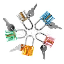 Amy Pick Cutaway Visable Padlock Lock For Locksmith Practice Training Skill Set Nice Gifts