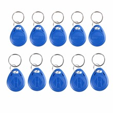 10PCS RFID Proximity ID Door Access Key Token Tag Fob 125KHz/13.56MHz rfid Read ID Token Key Keyfobs Ring