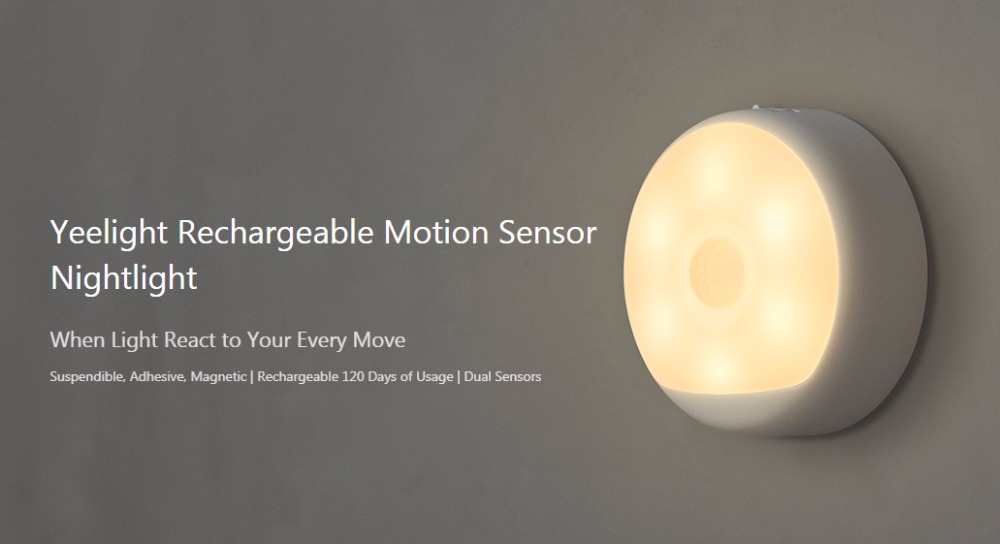 Xiaomi Yeelight LED Infrared Human Motion Sensor Night Light Smart USB Rechargeable Nightlight Magnetic Lamp Easy Installation (28)