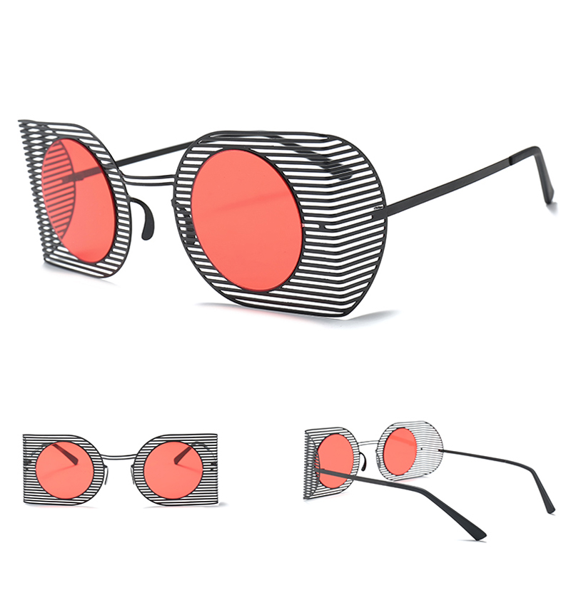 mens shield sunglasses women round black 7106 details (3)