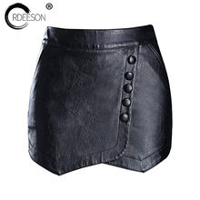 Buy ORDEESON Leather Skirt Plus Size Faux Leather Winter Black High Waist Skirts Womens Mini Skirt Shorts Skirt M-XXXL Harajuku for $23.39 in AliExpress store