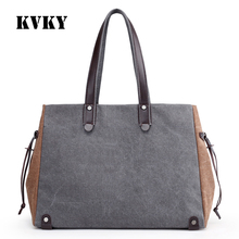 Fantasy sky canvas patchwork Two-tone canvas fashion classic women only shoulder bag vogue girls vintage casual tote handbag(China)