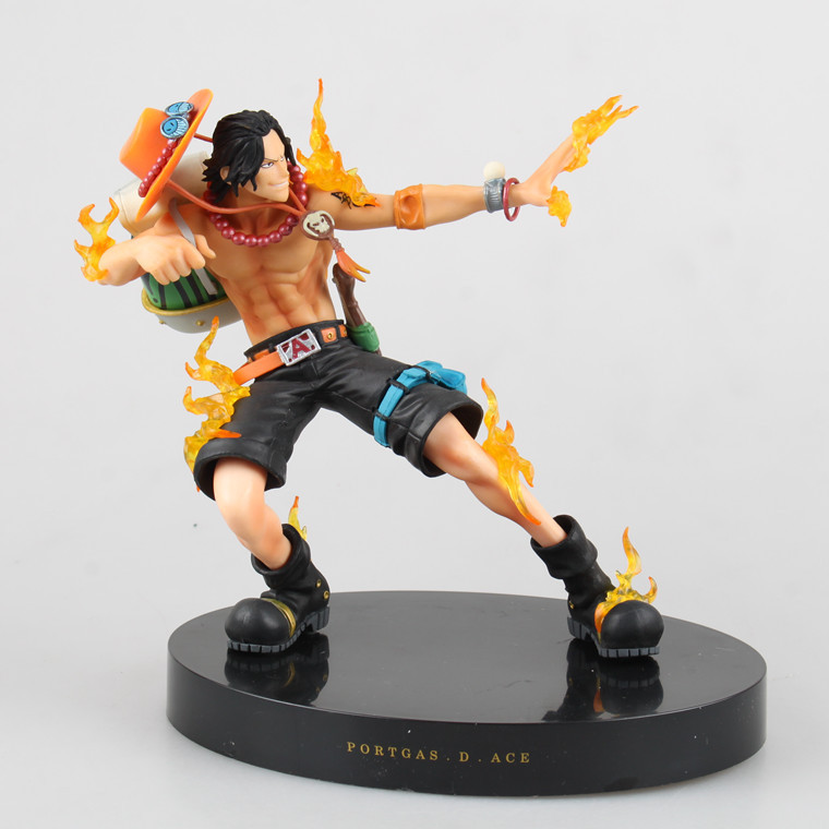 One Piece Ace 18cm Height Anime Figures Hot Toys Japanese Toys Collection Models Brinquedos Best Birthday Christmas Gifts<br><br>Aliexpress