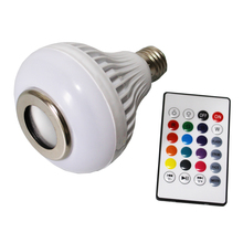 RGB Led Bulb 110V 220V Bluetooth Speaker Bulb Music Playing Dimmable 12W E27 LED Lamp Light with 24 Keys Remote Control