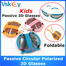 3pcs Kids Foldable Passive Circular Polarized 3D Glasses For Passive 3D Tvs and 3D RealD Movie Theaters Cinema System Children's