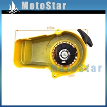 Yellow Aluminum Mini Moto Dirt Pull Starter Recoil For 2 Stroke 47cc 49cc Engine Minimoto Pocket Bike ATV Quad 4 Wheeler