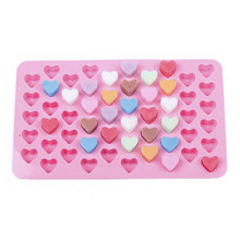 1pc 55 Grids heart-shaped DIY Jelly Ice Chocolate Silicone Baking Mould Home Kitchen Cake tools Baking Biscuit making mold