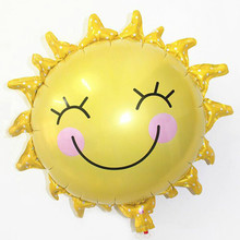 Wholesale Pink Yellow Sunflower Balloon Cartoon Balloon Helium Foil Balloons Party Decorations
