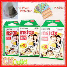 Fujifilm 50 Sheets Instax Mini 8 white Film VALID UNTIL 2018-11 + Free Gift for Polaroid Instant Photo Camera 7S 8 25 50s 70 90