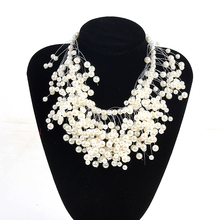 Fashion Beads Collar Necklace For Women New Wedding Accessories Releasing Simulated Pearl Necklaces Statement Jewelry(China)