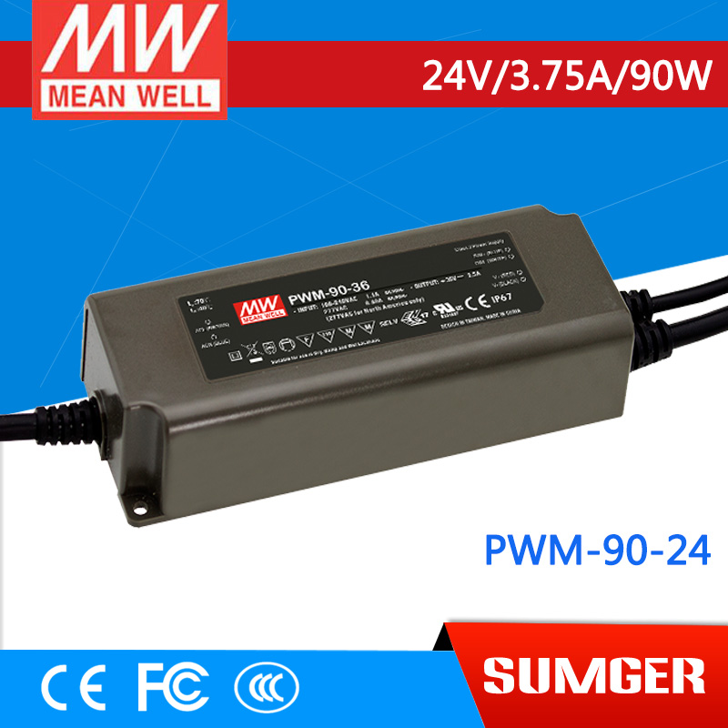 [Sumger] MEAN WELL original PWM-90-24 24V 3.75A meanwell PWM-90 24V 90W Single Output LED Power Supply<br><br>Aliexpress