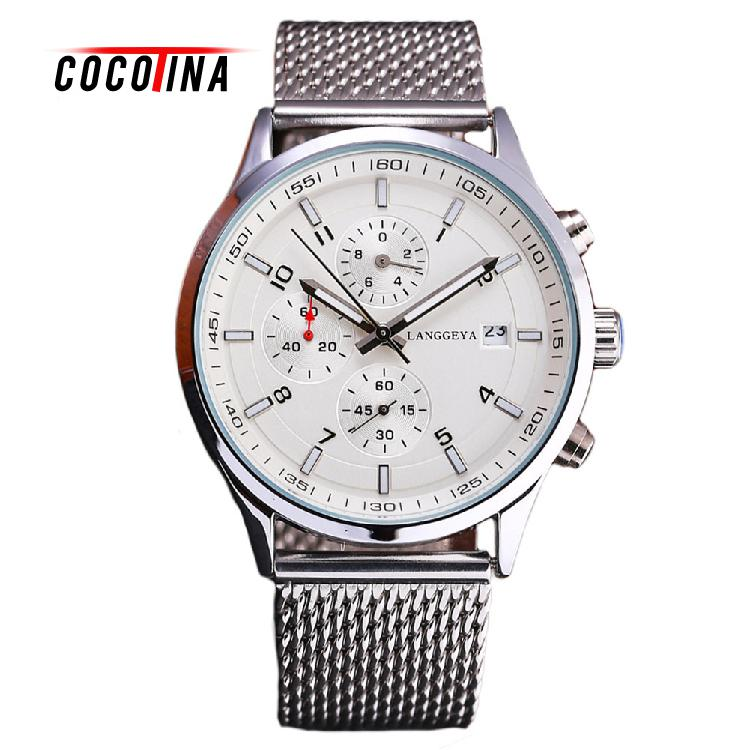 COCOTINA Mens High Grade Quartz Watch Leisure Business Mens Steel Mesh Belt Table Relogio Masculino LSB3182<br>